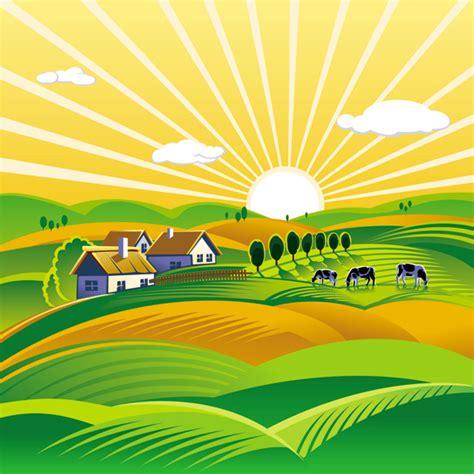 rural landscape  vineyard vector ai svg eps vector
