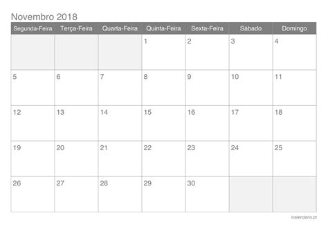 calendario novembro imprimir icalendariopt