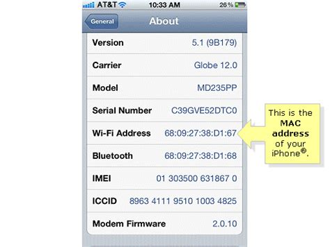 how to find mac address on iphone linksys official support checking the mac address of an