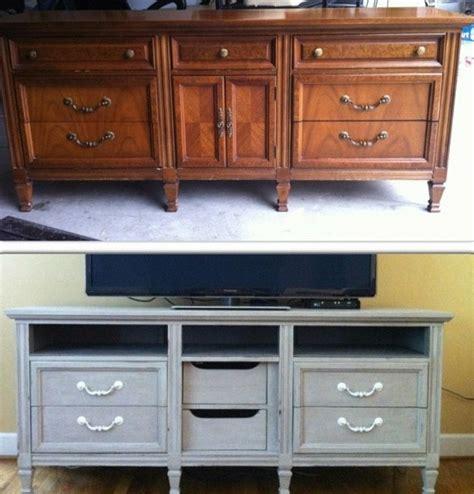 hometalk dresser turned tv stand upcycle