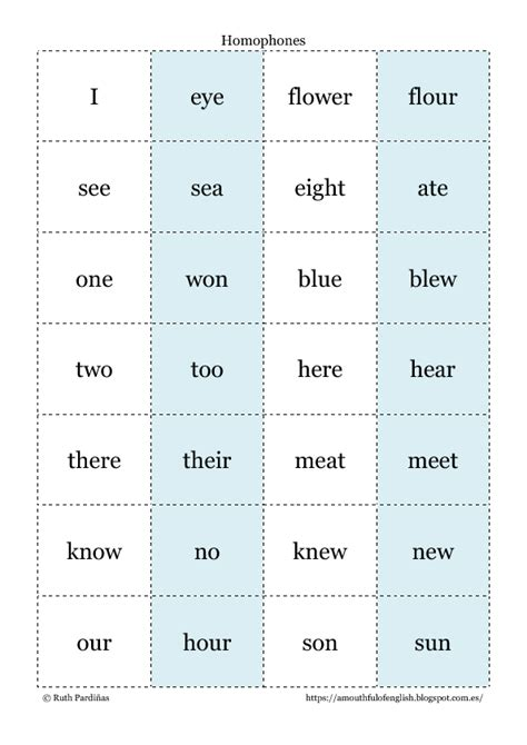 16 free homonyms worksheets