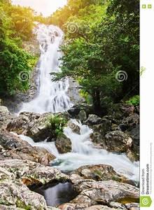 Amazing, Beautiful, Waterfalls, In, Autumn, Forest, At, Sarika
