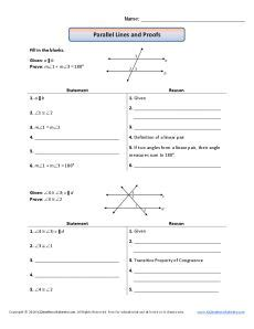 Multiples And Factors Worksheets Geometry Proofs Worksheets Parallel Lines And Proofs