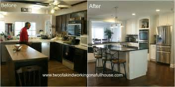 kitchen remodel ideas before and after wordless wednesday before after kitchen remodel pictures two of a working on a house