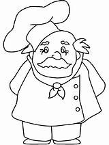 Coloring Pages Printable Chef Popular Coloringhome sketch template