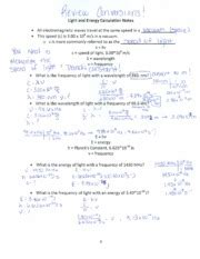 """Wavelength And Frequency Worksheet Solutions  34 ' H Uiu'lux'o J's E"""" L"""" C»— Av(1 50dx\o"""