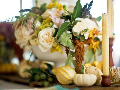 formal dining table floral arrangement easy centerpieces for thanksgiving or fall