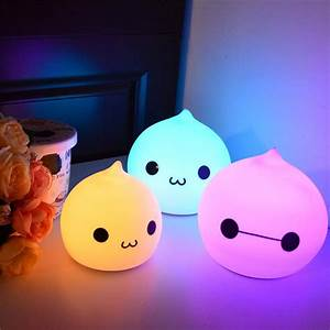silicone, touch, sensor, led, night, light, for, children, baby, kids, 7, colors, cat, led, usb, led, night