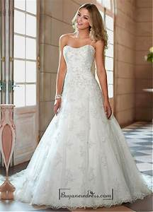 alluring tulle sweetheart neckline natural waistline a With a line wedding dresses sweetheart neckline