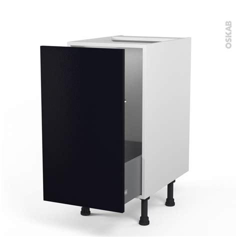 meuble de cuisine porte coulissante meuble de cuisine sous évier ginko noir 1 porte