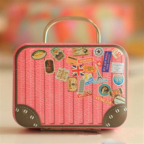 Europe Style Vintage Suitcase Shape Candy Storage Box
