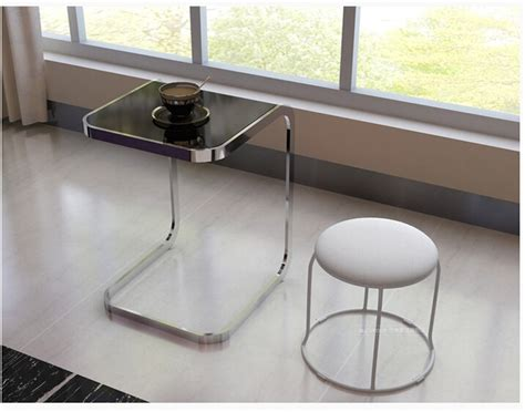 toughened glass side table square computer  sofa side