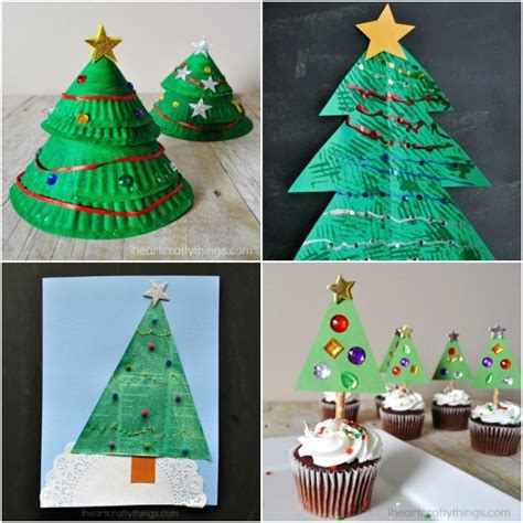creative christmas art and craft creative tree arts and crafts ideas for