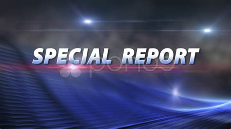 Video Special Report News Election Bumper With Clean