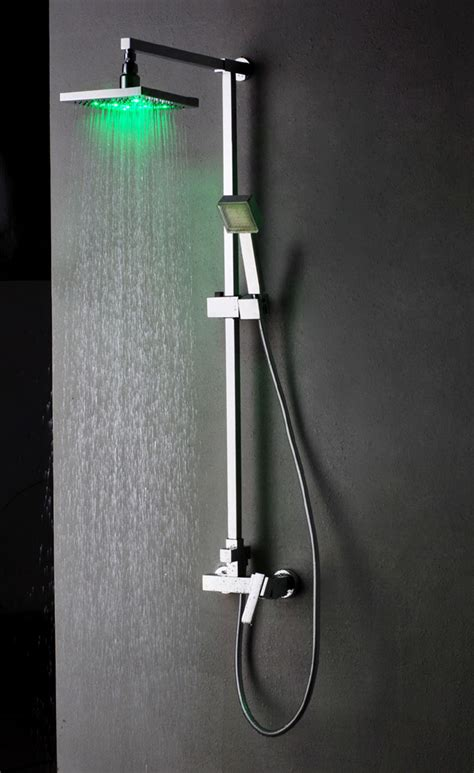 mixer shower with led light plumbing fixtures supplies