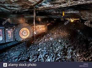 Underground coal mining, transportation of coal to the ...