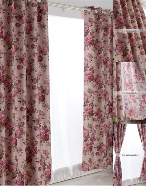 Country Style Curtains And Drapes - ready made curtains and drapes of typical floral country style