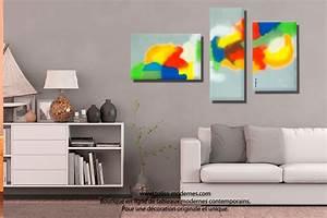 Tableau Deco Design : tableau triptyque d co murale design panoramique pour salon chambre entreprise une plan te color e ~ Melissatoandfro.com Idées de Décoration