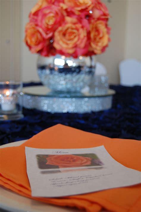 coral rose menu card  images menu cards event
