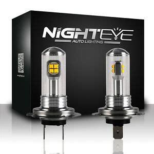 h7 birne led nighteye paar led h7 80w nebelscheinwerfer nebel licht auto birne tagfahrlicht ebay