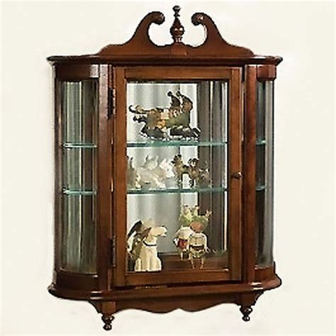 Curved Glass Curio Cabinet By Chintaly by The 25 Best Glass Curio Cabinets Ideas On
