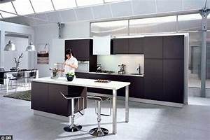 emejing cuisine ilot central table manger gallery design With cuisine avec ilot central et table