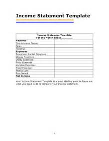 Income Statement Spreadsheet Income And Expense Statement Template Images