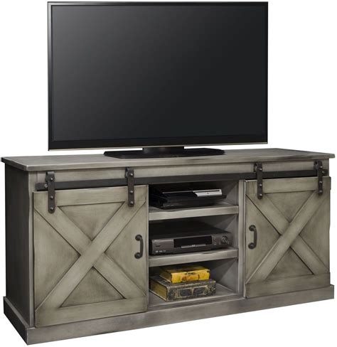 white farmhouse tv stand farmhouse 66 quot gray tv console from legends furniture 1296