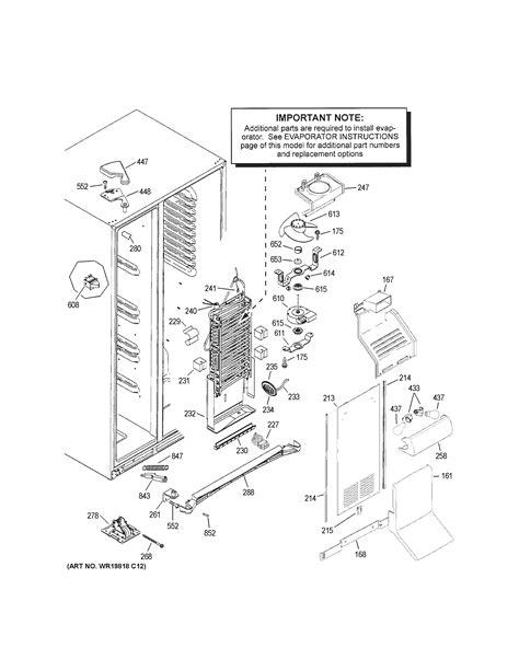 ge gshfkgzbcww side  side refrigerator parts sears partsdirect