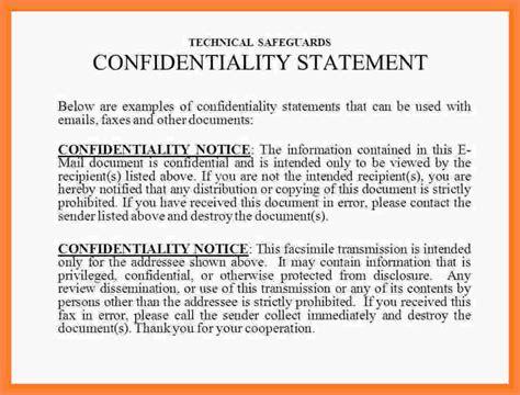 confidentiality statement  fax statement synonym