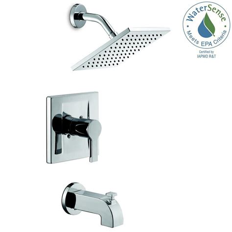 Shower Bath Faucet by Glacier Bay Modern Single Handle 1 Spray Tub And Shower