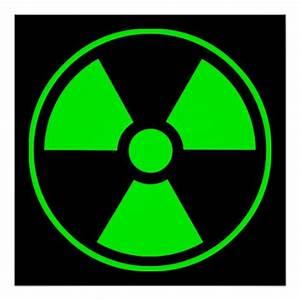 Radioactive Radiation Symbol green and black Poster | Zazzle