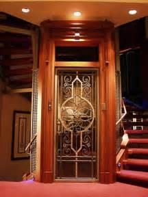 houses with elevators home elevator with etched door home elevator