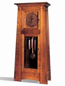Arts and crafts style grandfather clock