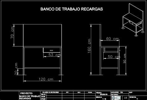work bench dwg block  autocad designs cad