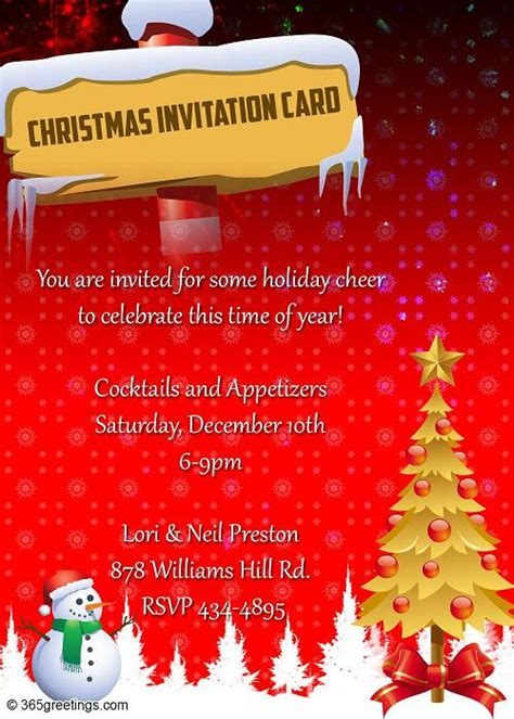 Top Christmas Invitations for this Christmas Easyday