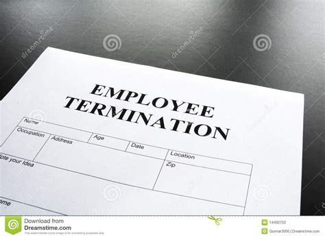 employee termination employee termination stock photos image 14492753