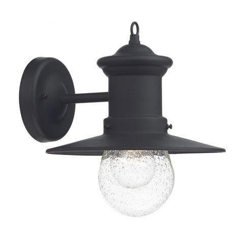 traditonal black garden wall lantern fisherman style with