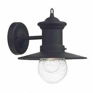 traditonal black garden wall lantern fisherman style with With outdoor wall lights fisherman style
