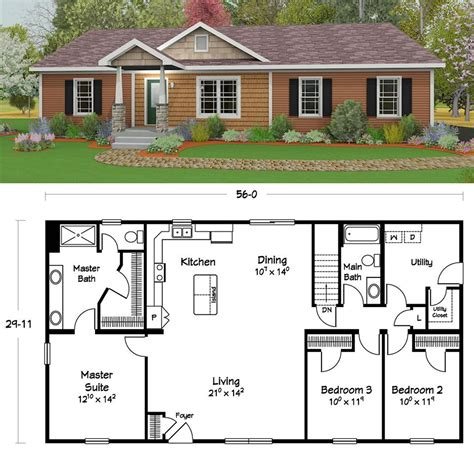 popular plans ranch style homes