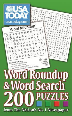 usa today word roundup  word search  puzzles