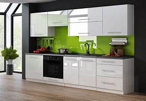 Küche 260 Cm : kaufexpert k chenzeile linda cappuccino hochglanz 260 cm k che k chenblock mdf arbeitsplatte ~ Indierocktalk.com Haus und Dekorationen
