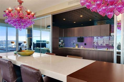 pink and purple kitchen purple pink chandelier dining table kitchen beautiful apartment with amazing views in
