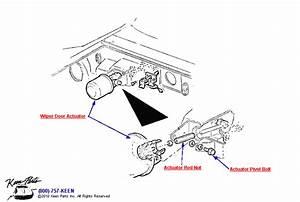 1969 Corvette Wiper Door Actuator Parts