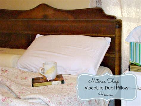 natures sleep pillows nature s sleep viscolite dual memory foam pillow review