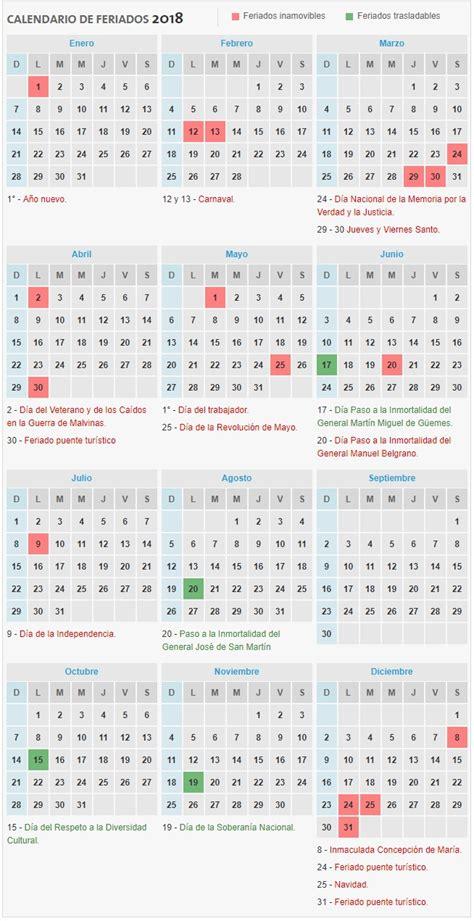 calendario de feriados ignacio