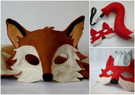 tiermasken basteln faschingsmasken aus papier und filz