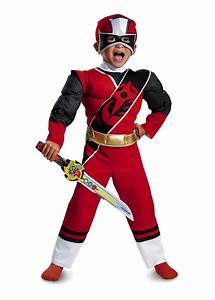 Red Power Ranger Toddler Boys Muscle Costume - Superhero Costumes