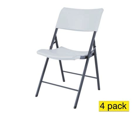 lifetime chairs 80191 light duty white granite folding