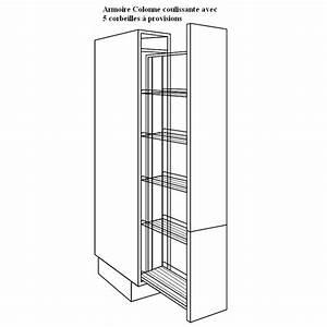 Colonne 30 Cm Largeur : armoire colonne avec corbeilles paniers ~ Premium-room.com Idées de Décoration